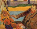 Portrait Of Vincent Van Gogh Painting Sunflowers Aka Villa Rotunda By Emma Ciardi - Paul Gauguin