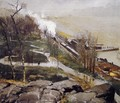 Rain On The River - George Wesley Bellows