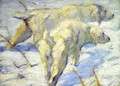 Siberian Sheepdogs Aka Siberian Dogs In The Snow - Franz Marc