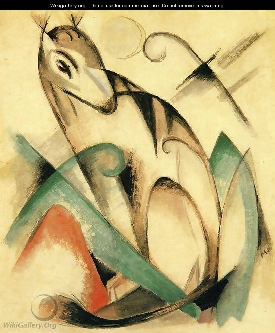 Seated Mythical Animal - Franz Marc