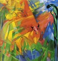 Animals In Landscape Aka Painting With Bulls - Franz Marc