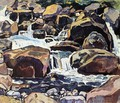 Mountain Stream At Champery - Ferdinand Hodler