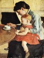 Mother And Chiild - Ferdinand Hodler