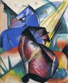 Two Horses Red And Blue - Franz Marc