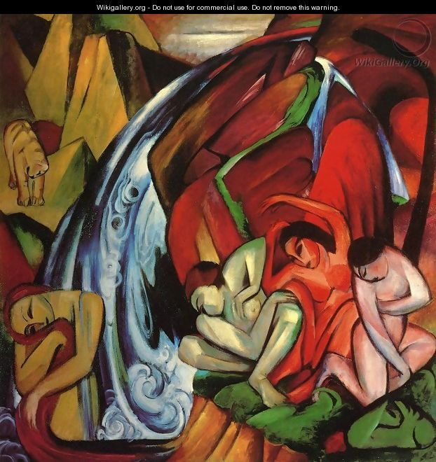 The Waterfall - Franz Marc
