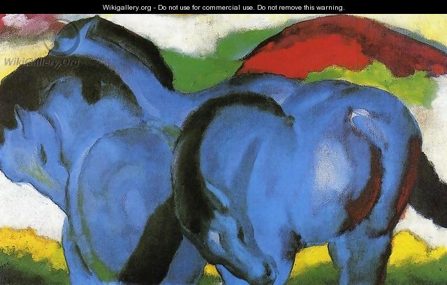 The Little Blue Horses - Franz Marc