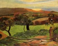 Breton Landscape Fields By The Sea Aka Le Pouldu - Paul Gauguin