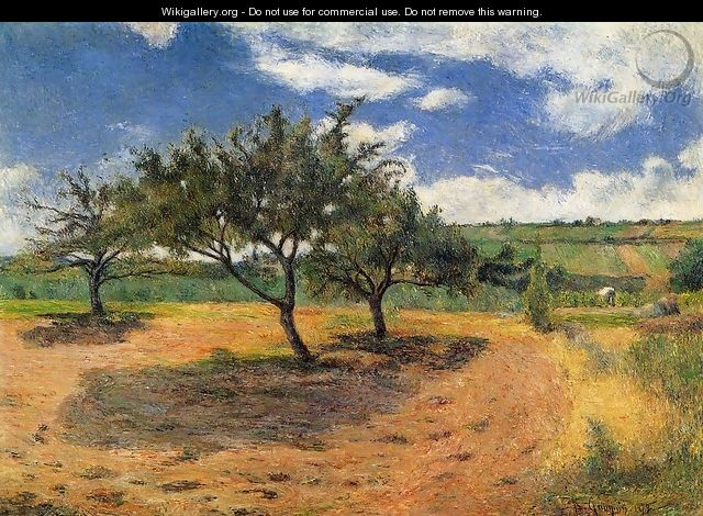 Apple Trees At L Hermitage - Paul Gauguin