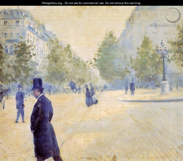 Place Saint Augustin Misty Weather - Gustave Caillebotte