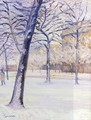 Park In The Snow Pari - Gustave Caillebotte