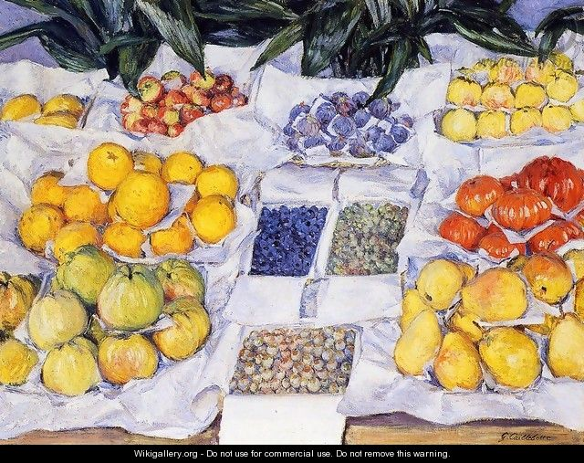 Fruit Displayed on a Stand 1881-82 - Gustave Caillebotte