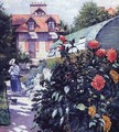 Dahlias The Garden At Petit Gennevilliers - Gustave Caillebotte