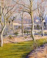 The Garden At Petit Gennevilliers In Winter - Gustave Caillebotte