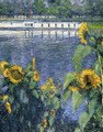 Sunflowers On The Banks Of The Seine - Gustave Caillebotte