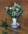 Still LIfe With A Vase Of Lilacs - Gustave Caillebotte