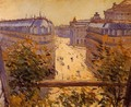 Rue Halevy Balcony View - Gustave Caillebotte