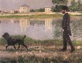 Richard Gallo And His Dog At Petit Gennevilliers - Gustave Caillebotte