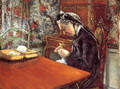 Portrait Of Madame Boissiere Knitting - Gustave Caillebotte