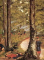 Yerres Soldiers In The Woods - Gustave Caillebotte