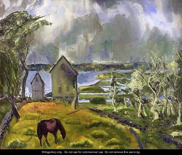 Old Orchard Newport Rhode Island - George Wesley Bellows