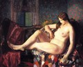 Nude With Hexagonal Quilt - George Wesley Bellows