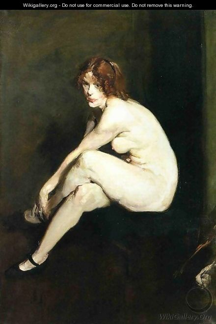 Nude Girl Miss Leslie Hall - George Wesley Bellows
