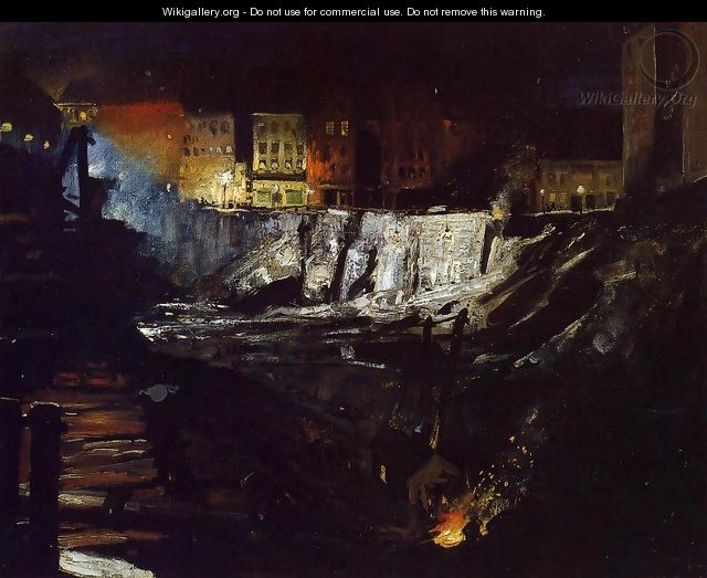 Excavation At Night - George Wesley Bellows