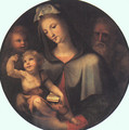 The Holy Family with Young Saint John 1530 - Domenico Beccafumi
