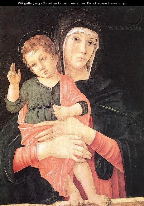 Madonna with Child Blessing 1460-64 - Giovanni Bellini