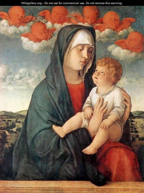Madonna of Red Angels 1480-90 - Giovanni Bellini