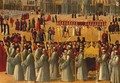 Procession in Piazza S. Marco (detail) 1496 - Gentile Bellini