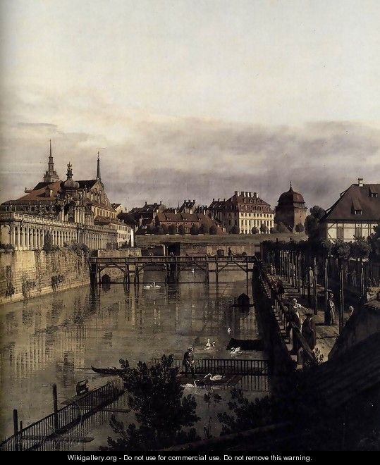 the moat of the zwinger in dresden detail 1749 53 bernardo bellotto canaletto. Black Bedroom Furniture Sets. Home Design Ideas