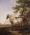 Landscape with Two Horses - Nicolaes Berchem