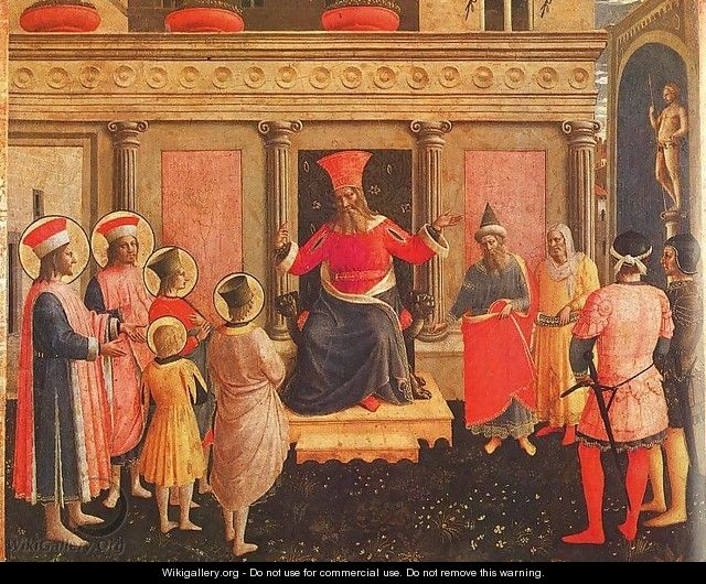 Saint Lawrence Distributing Alms, 1447-49 - Angelico Fra