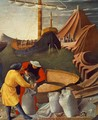 The Story of St Nicholas, St Nicholas saves the ship (detail) 1437 - Angelico Fra