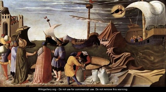 The Story of St Nicholas, St Nicholas saves the ship 1437 - Angelico Fra
