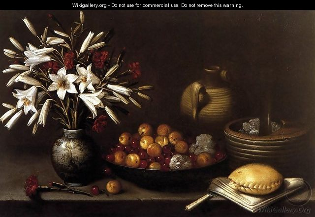 Still-Life with Flowers and Fruit 1643 - Francisco Barrera