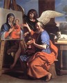 St Luke Displaying a Painting of the Virgin 1652-53 - Giovanni Francesco Guercino (BARBIERI)