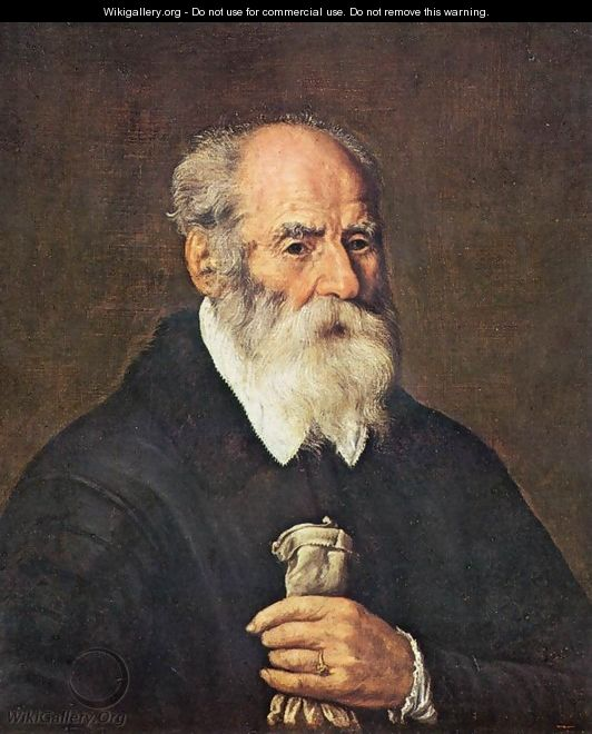 Portrait of an Old Man with Gloves - Marcantonio Bassetti