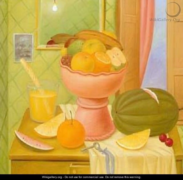 Still Life With Oranges 1993 2 - Fernando Botero