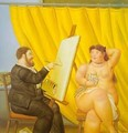 Painter and His Model 1995 - Fernando Botero