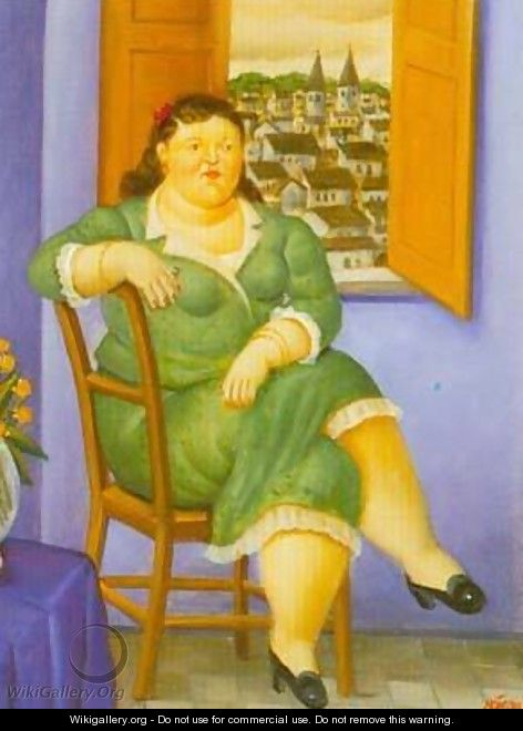 Woman in front of the Window 1995 - Fernando Botero