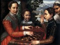 Portrait of the Artist's Sisters Playing Chess 1555 - Sofonisba Anguissola