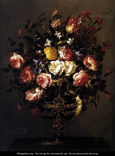 Vase of Flowers 1664 - Juan De Arellano