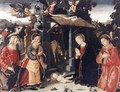Nativity with Sts Lawrence and Andrew 1480-85 - Romano Antoniazzo