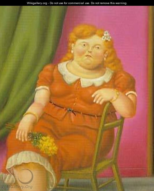 Woman Seated 1997 - Fernando Botero