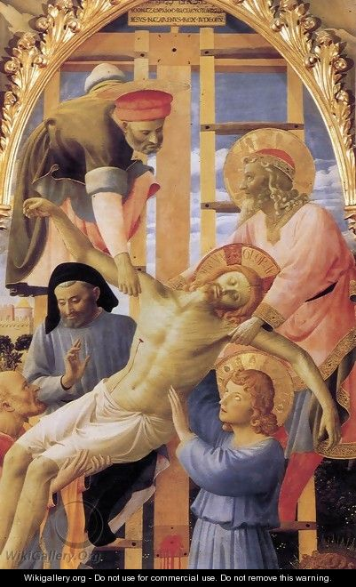 Deposition from the Cross (detail 2) 1437 - Angelico Fra