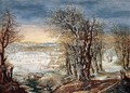 Winter Landscape in the Fôret de Soignes, with the Flight Into Egypt - Denys Van Alsloot