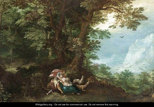 Extensive Wooded Landscape with Cephalus and Procris - Denys Van Alsloot