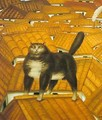 Cat on a roof 1978 - Fernando Botero